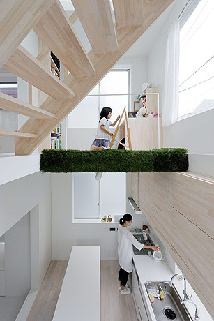 sou fujimoto house h kids room and kitchen under