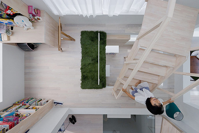 sou fujimoto house h kids room from above