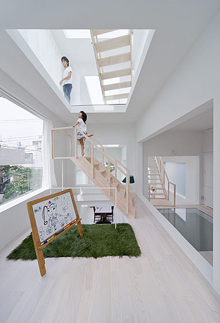 sou fujimoto house h kids room stairs