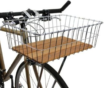 Wald Woodie Bike Basket droteny kos na bicykel s drevenym dnom