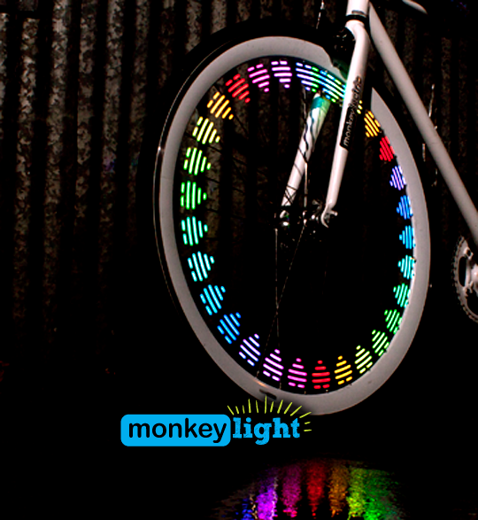 monkey light mini 8bitove svetlo na bicykel