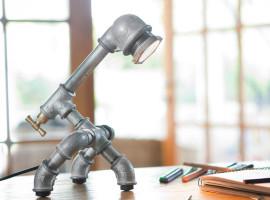 KOZO 20 industrial chic desk lampa z zeleznych rur