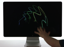 leap motion drawing on monitor