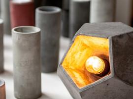 aetredesign - platonic solids - betonova lampicka