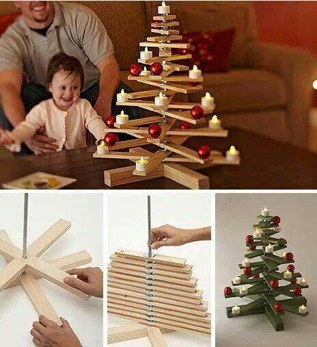 67 diy wooden christmas tree jednoduchy dreveny stromcek