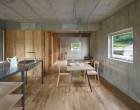 suppose design office house in yagi warmer wooden interior dreveny interier